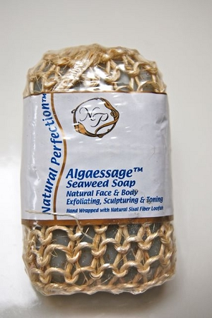 Nutrient Rich Seaweed Soap Hand Wrapped With Sisal Fiber