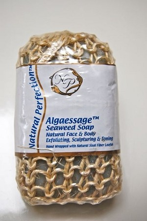Algaessage™ Nutrient Rich Seaweed Soap Hand Wrapped in Sisal Fiber Loofah  150 g